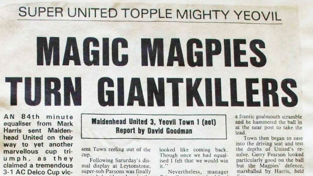 How Maidenhead United slayed the Yeovil Town giant killers