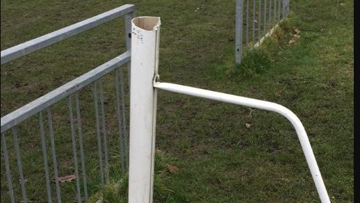 Mortimer offer reward for information on goalpost vandals
