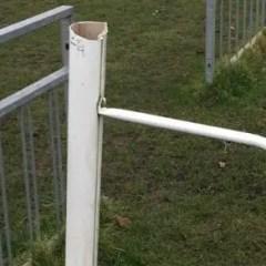 Mortimer offer reward for information on goalpost vandals