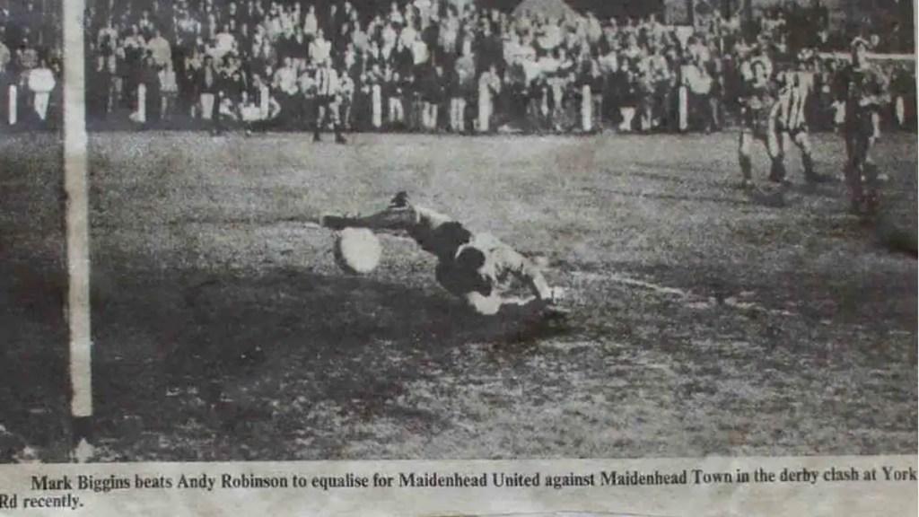 The last time Maidenhead United met Maidenhead Town