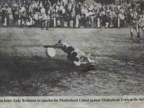 The last time Maidenhead United met Maidenhead Town