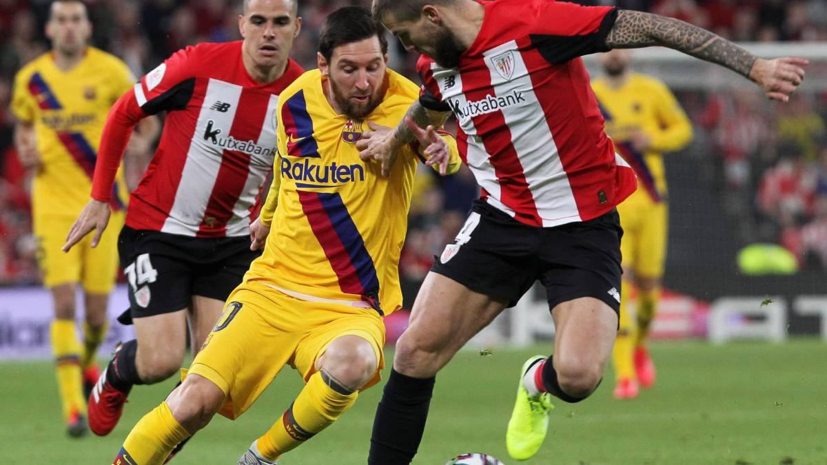 बिल्बाओ भर्सेस बार्सिलोना : घम्साघम्सीपूर्ण खेलको पहिलो हाफमा बराबरी
