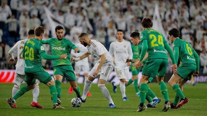 कोपा डेल रे क्वार्टरफाइनल : रियल मड्रिड पहिलो हाफमा ०–१ ले पछि
