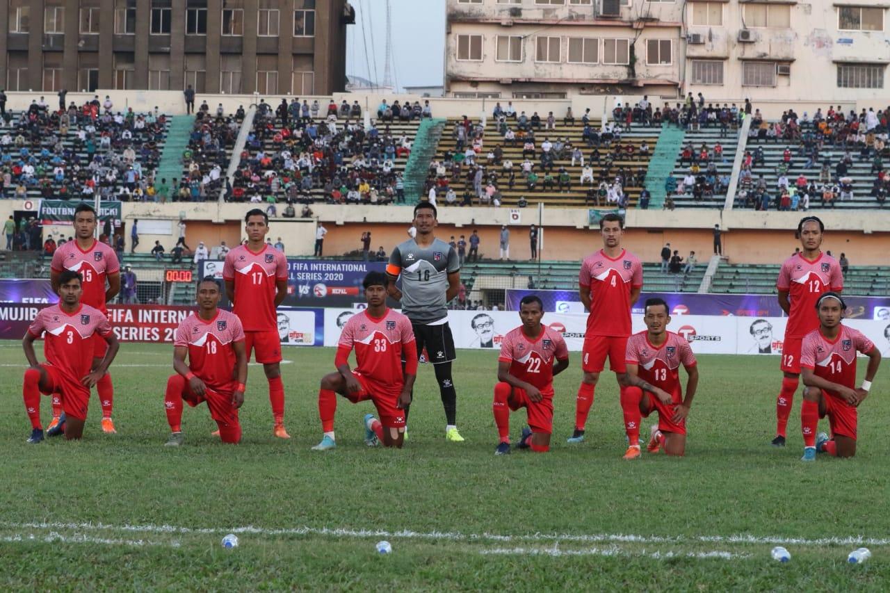 बंगलादेश भर्सेस नेपाल : पहिलो हाफमा नेपाल १–० ले पछि