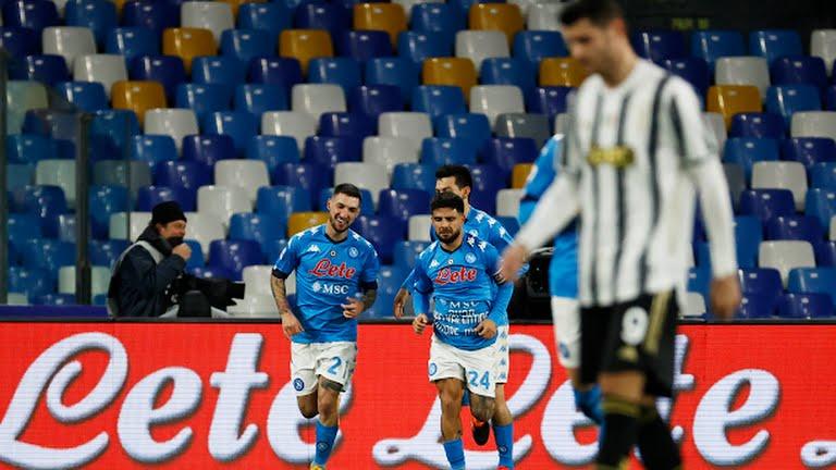 नापोली भर्सेस युभेन्टस : पहिलो हाफमा नापोली १–० ले अघि