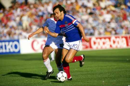 French Football player Michel Platini 1984