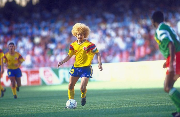 Carlos Valderrama was at his imperious best in the early 90s