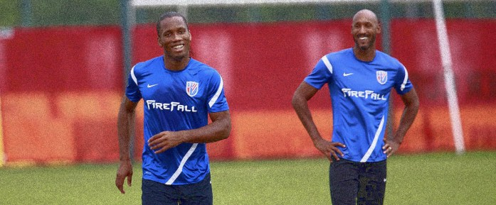 Drogba and Anelka in the Chinese Super League