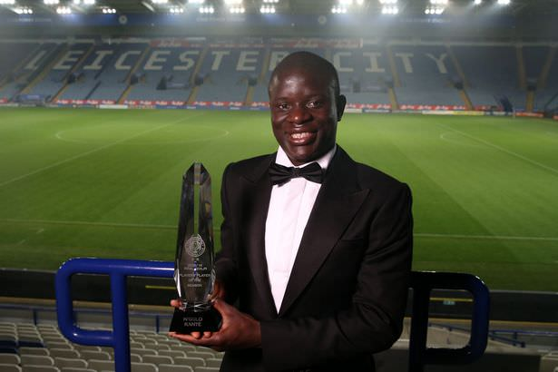 N'golo Kante, who was chosen as the club's player of the year was the most influential member of Ranieri's squad at Leicester City's player of the year award