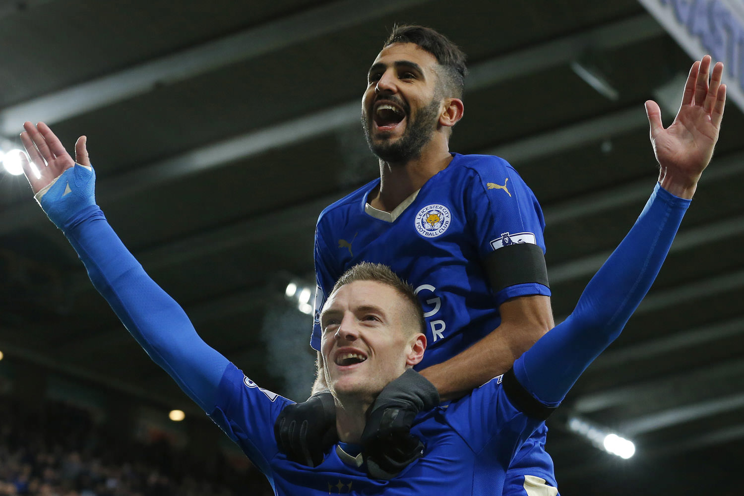 Jamie Vardy and Riyadh Mahrez were on the form of their life last season, providing a cutting edge to Claudio Ranieri's Foxes