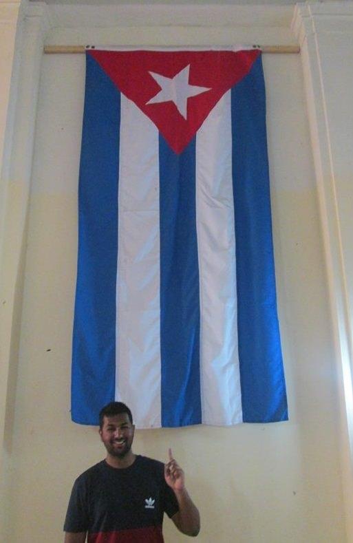 The author in Havana, Cuba, enjoying his research on Cuban Football