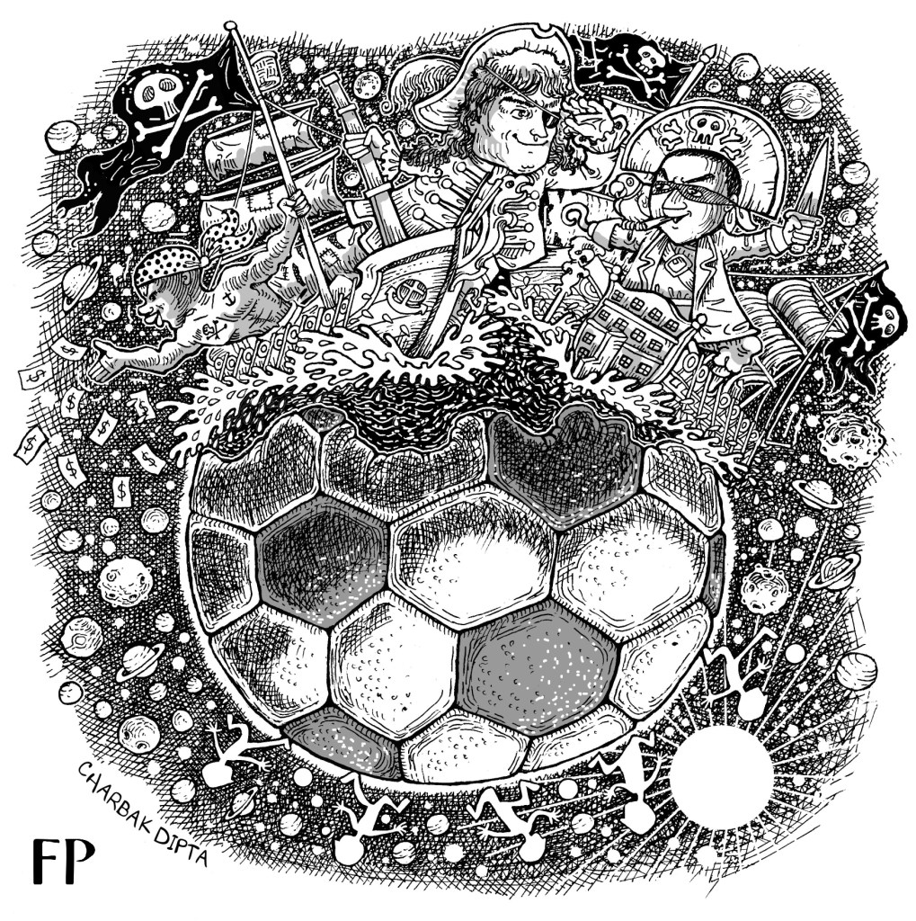 Football is an international business now, and is naturally filled with those who don't really like the morally acceptable path. (Illustration by Charbak Dipta)