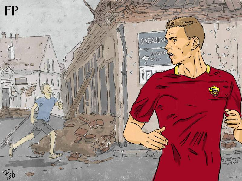 Edin Dzeko has always played his football while looking over his shoulder. Even after a truckload of goals in the Premier League, Bundesliga and now the Serie A, he hasn't received the adulation that a man of his achievements deserves.