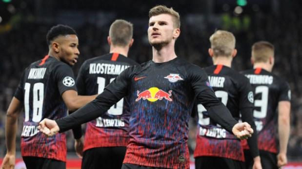 timo werner celebrates goal