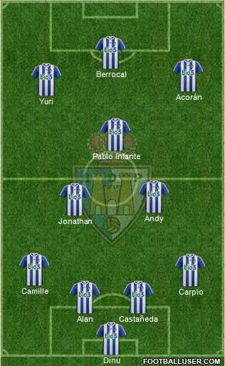 S.D. Ponferradina 4-1-4-1 football formation
