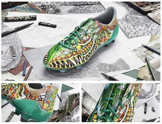 Green dragon boots 2014-15 of Adidas