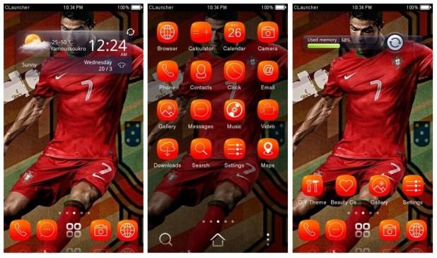 Cristiano Ronaldo Android theme download