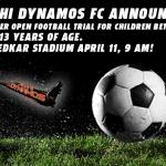 Delhi Dynamos open football trails