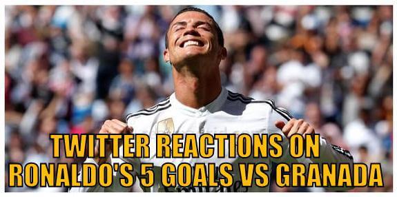 Twitter reactions to Cristiano Ronaldo's 5 goals vs Granada