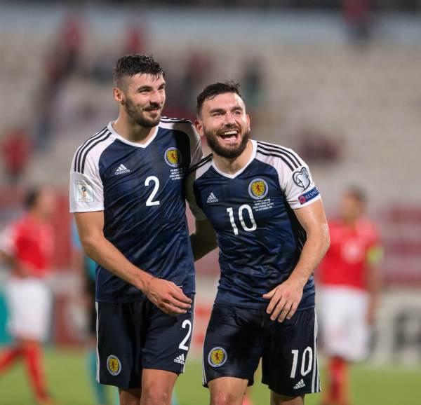 04.09.2016 Malta v Scotland, World Cup Qualifying - European - Group F ....................... ROBERT SNODGRASS AND CALLUM PATERSON AT END