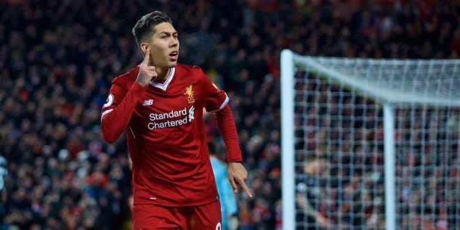 Liverpool's Firmino Breaks Personal goalscoring Record