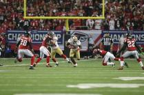 Umpire Carl Paganelli during a run by 49ers running back Frank Gore (San Francisco 49ers photo)