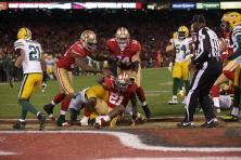 Umpire Darrell Jenkins following a 49ers touchdown (San Francisco 49ers photo)
