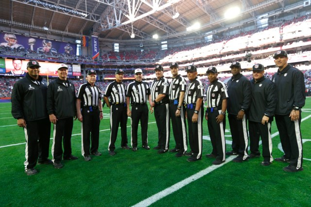 3dab87e7f31 Executive vice president of Football Operations Troy Vincent said he  expects the NFL to implement a larger officiating crew and to hire full-time  officials ...