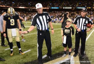 Referee Craig Wrolstad (New Orleans Saints)