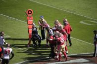 Morelli's crew measures a first down (San Francisco 49ers)