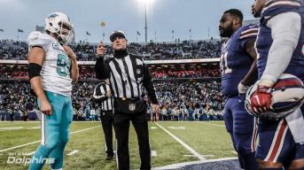 Craig Wrolstad OT coin toss (Miami Dolphins)