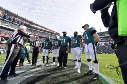 Walt Coleman coin toss (Philadelphia Eagles)