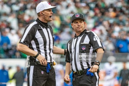 Referee Clay Martin and back judge Greg Wilson (Photo by John Jones/Icon Sportswire via Getty Images)