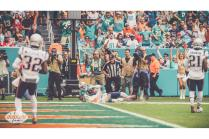 Jeff Seeman calls a play at the goal line (Miami Dolphins)