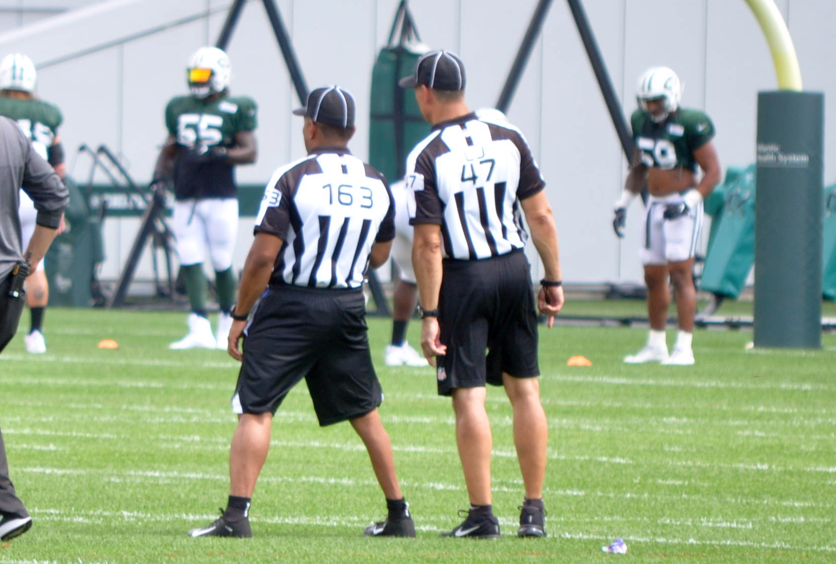 With the players, officials are vying for the NFL in college invitational games