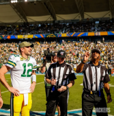 L-R: Greg Meyer and Adrian Hill (Green Bay Packers)