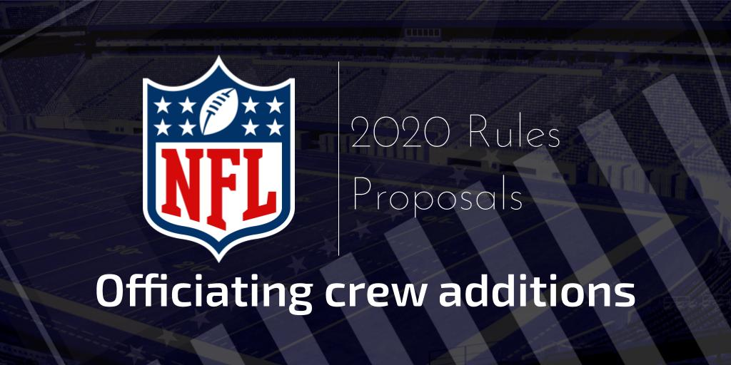 Competition Committee supporting analysis into the addition of an officiating crew advisor