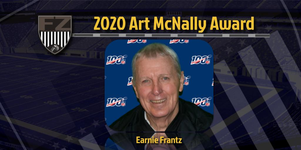 Earnie Frantz is the recipient of the 2020 Art McNally Award