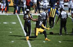 Adrian Hill, Paul King and Keith Washington (Pittsburgh Steelers)