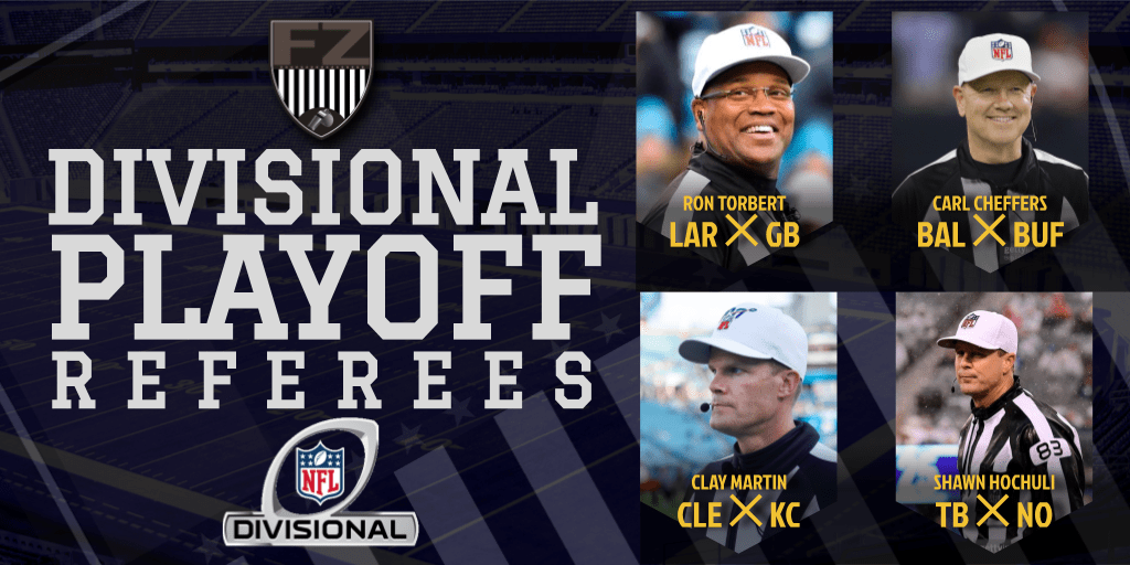 Torbert, Cheffers, Martin, and Hochuli are Divisional Playoff referees
