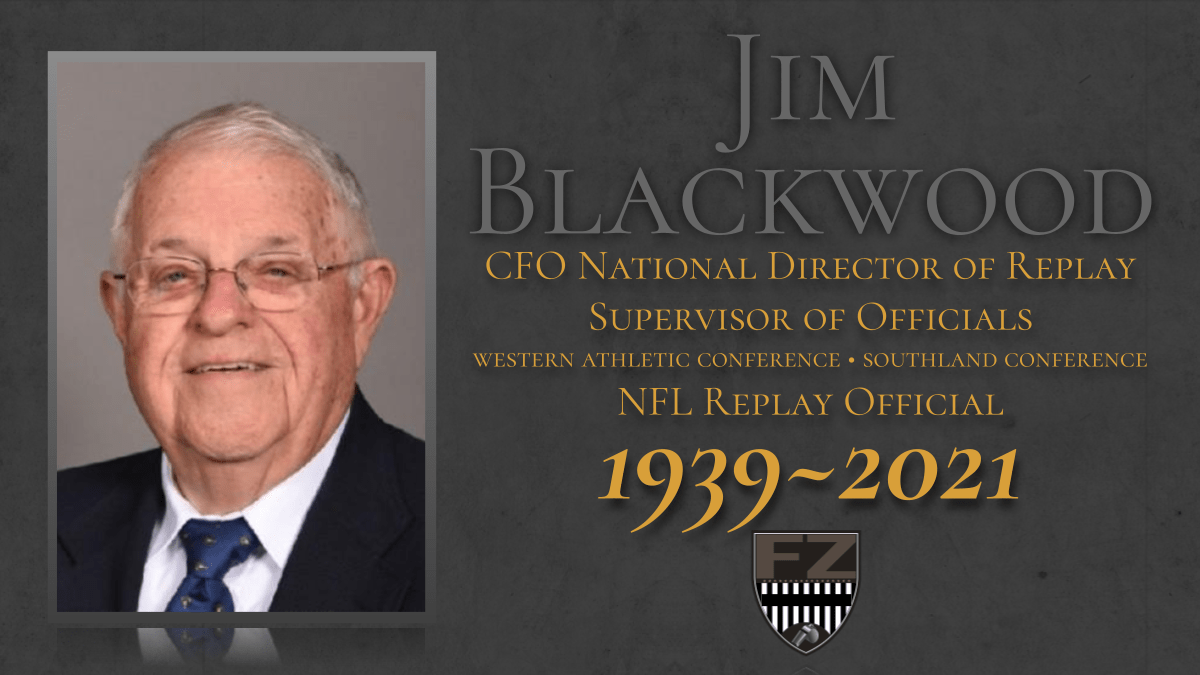 Jim Blackwood, former conference officiating coordinator and national replay director, has died