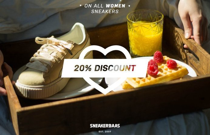 Sneaker Baas 20% Mother day sale