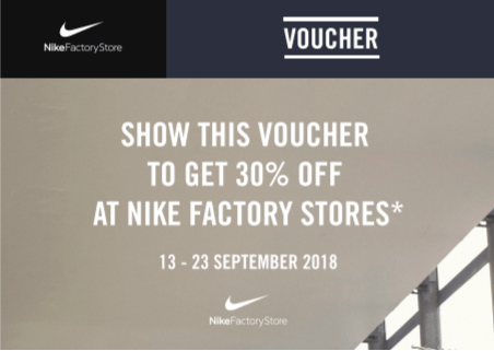 Nike Factory Outlet Voucher