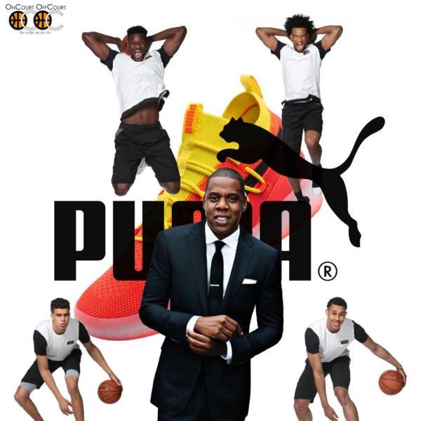 Puma Hoops Basketball On Court Off Court