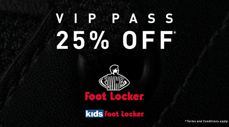 Foot-Locker-VIP Pass-25-off-your-favourite-brands