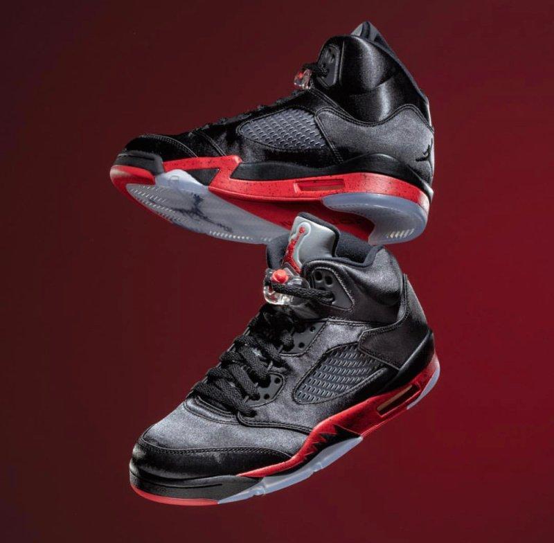 Air Jordan 5 Bred Satin