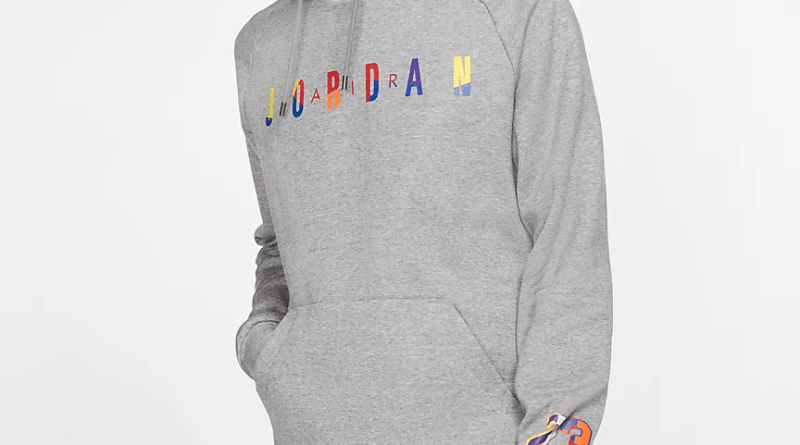 Air Jordan Rivals Pullover Hoodie (Carbon Heather) 3