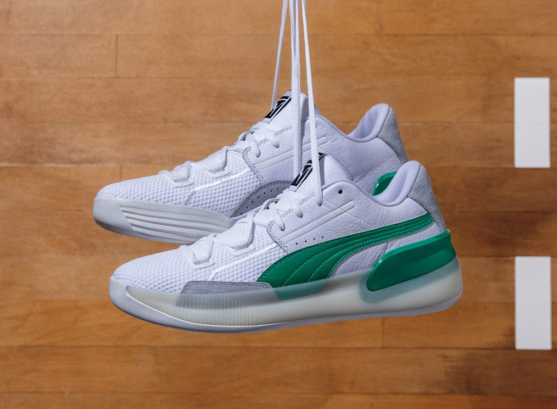 Puma Clyde Hardwood White Green