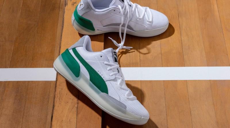 Puma Clyde Hardwood White Green 3