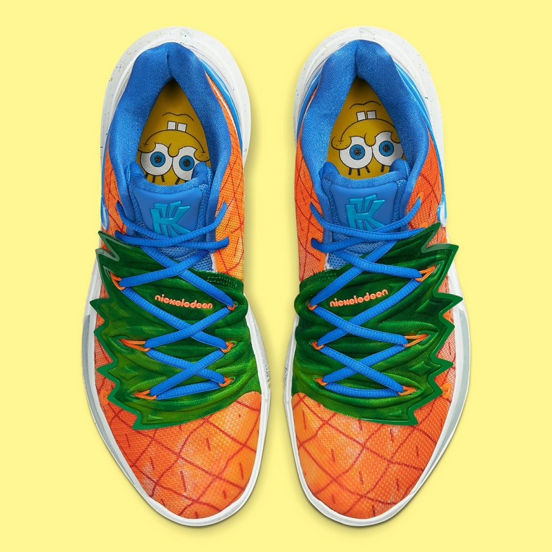 "Where to buy SpongeBob Square Pants x Nike Kyrie 5 ""Pineapple House"" CJ6951-800 Opening Night 4"